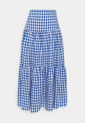 SKIRT - A-linjainen hame - blue/white