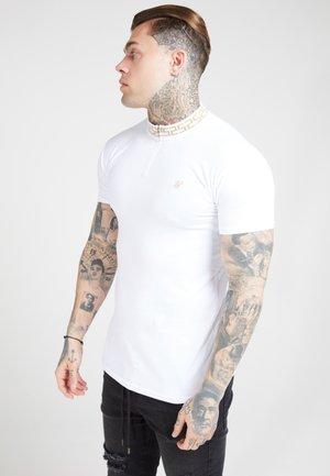 CHAIN RIB COLLAR - Basic T-shirt - white