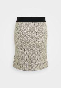 sandro - JAZZ - A-line skirt - ecru/noir - 1