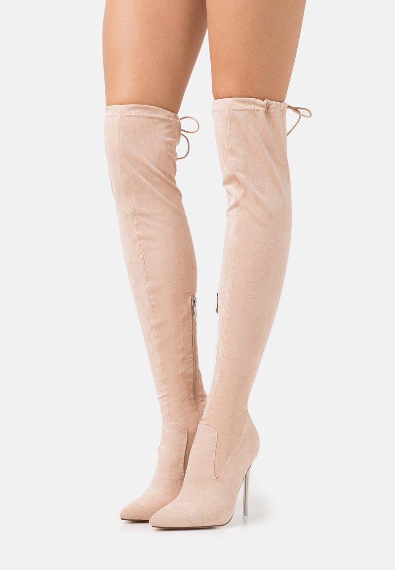 BEBO - MAKAYLA - High heeled boots - nude