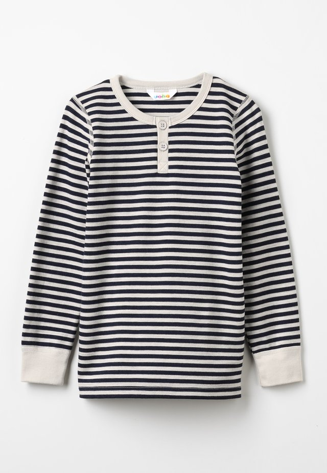 LONG SLEEVES - Unterhemd/-shirt - grau/dunkelblau