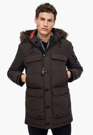 MIT CARGOTASCHEN - Winter jacket - brown