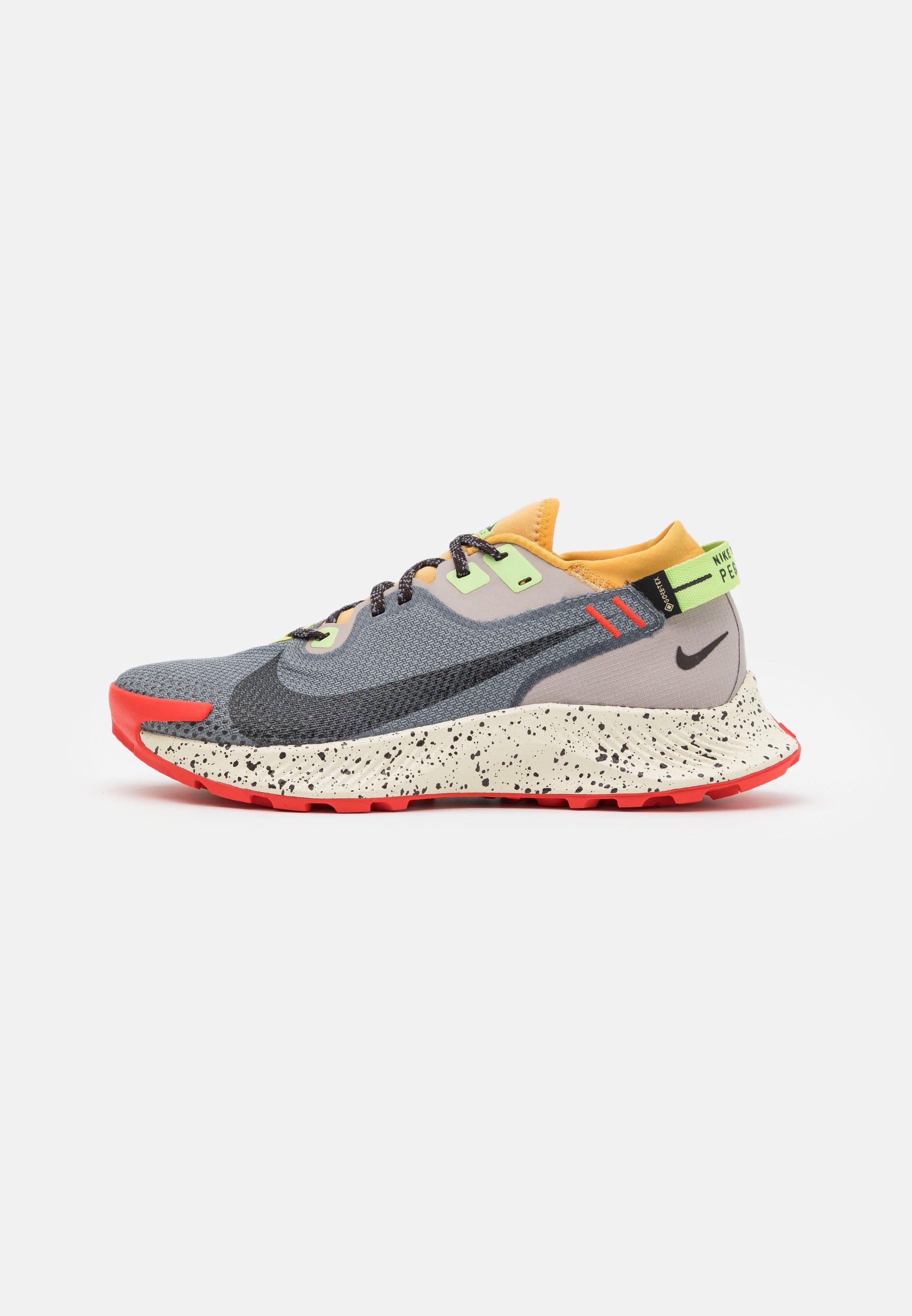 PEGASUS TRAIL 2 GTX - Chaussures de running - smoke grey/black/bucktan/college grey/key lime/chile red