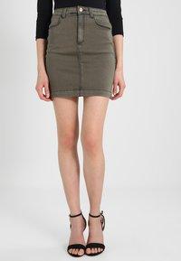 Missguided - SUPERSTRETCH SKIRT  - A-line skirt - khaki - 0