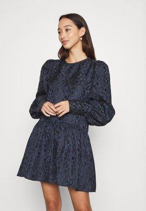 LEOPARD MINI DRESS - Vestido de cóctel - navy