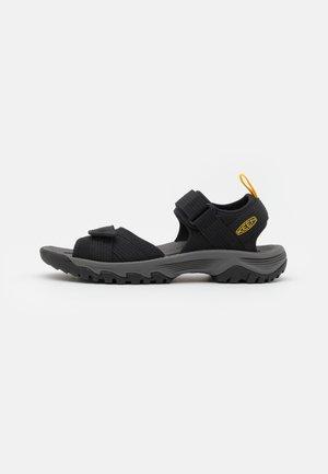 TARGHEE III OPEN TOE - Walking sandals - black/yellow