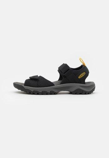 TARGHEE III OPEN TOE - Outdoorsandalen - black/yellow
