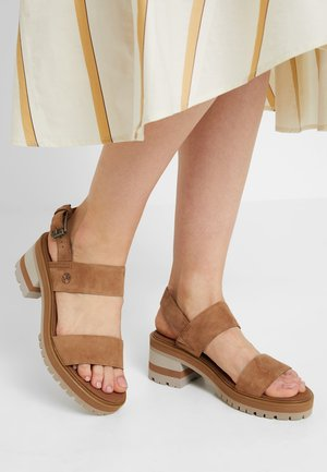 VIOLET MARS 2 BAND SANDAL - Sandals - rust