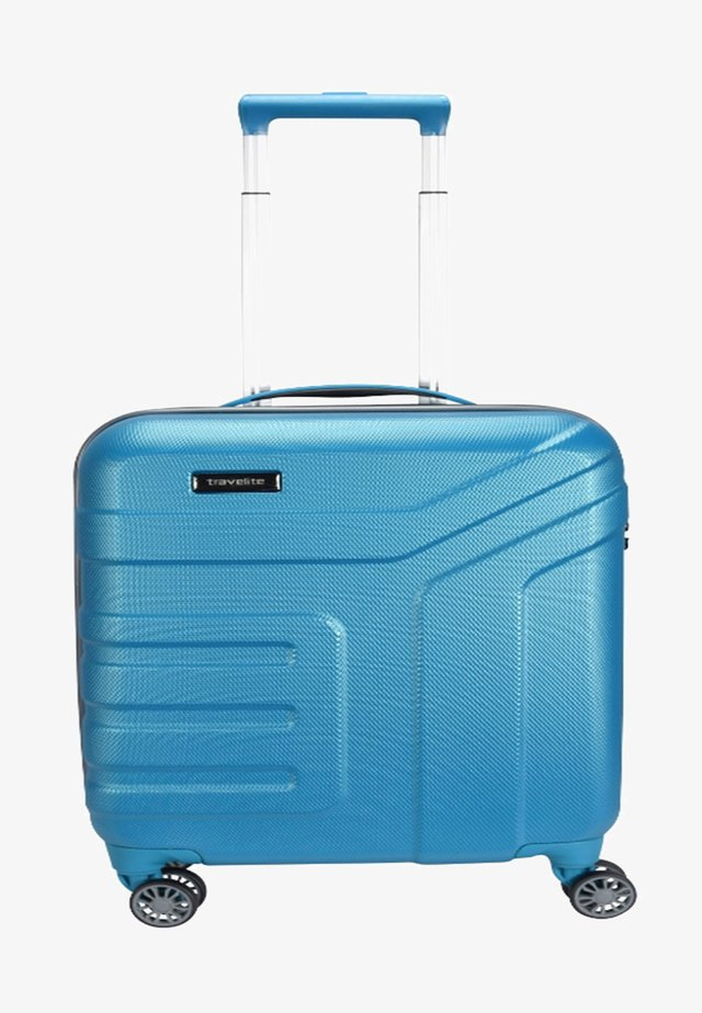VECTOR  - Wheeled suitcase - turquoise