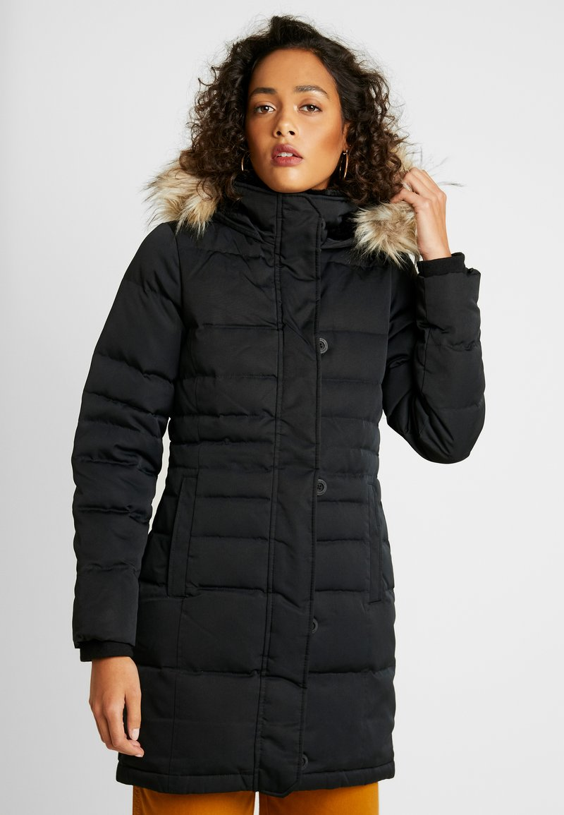 Hollister Co. - PUFFER PARKA - Dunkåpe / -frakk - black