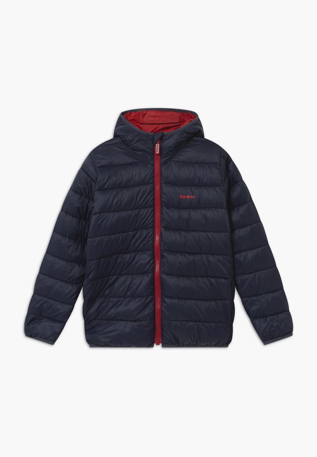 BOYS TRAWL QUILT - Winter jacket - navy/crimson