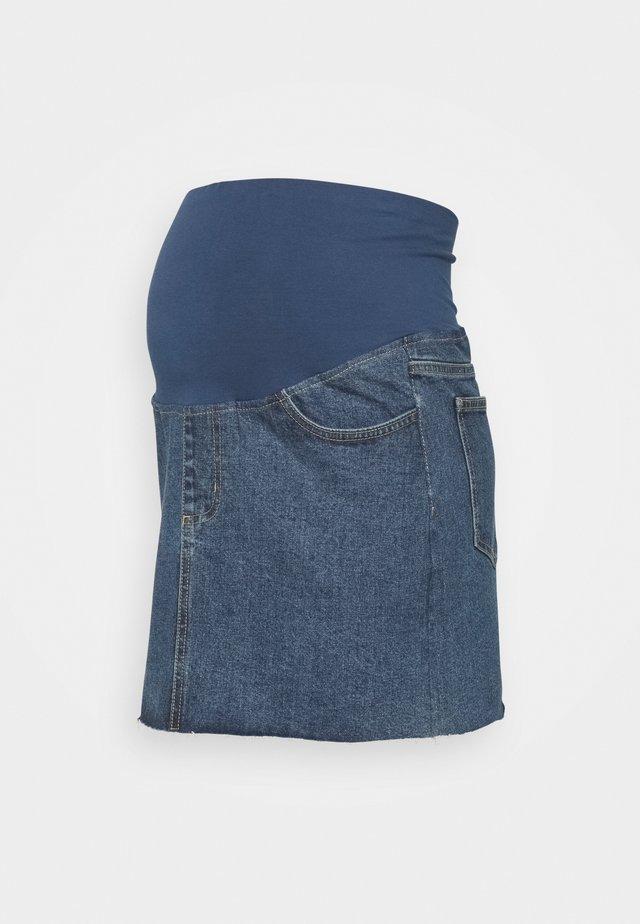 MATERNITY CLASSIC STRETCH SKIRT - Spódnica jeansowa - coogee blue