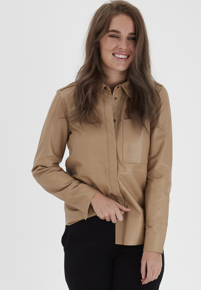 Dranella - DRLIRINA - Button-down blouse - tan