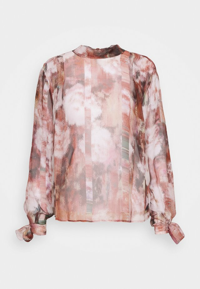 BORMIO - Maglietta a manica lunga - burgundy