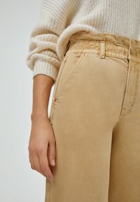 PULL&BEAR - PAPERBAG - Relaxed fit jeans - beige - 3
