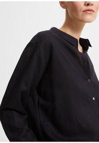 comma - Button-down blouse - dark blue - 3