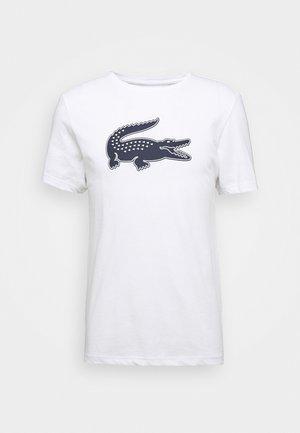 T-shirt print - blanc/marine