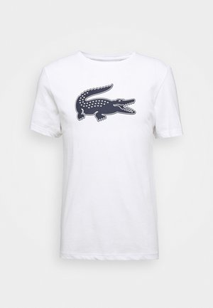 T-shirt z nadrukiem - blanc/marine