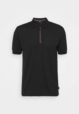 MENS ZIP  - Koszulka polo - black