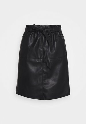 ONLRIGIE PAPER BAG SKIRT - Pencil skirt - black