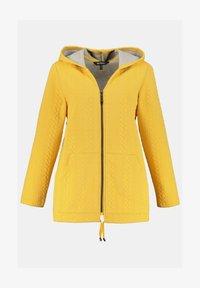 Ulla Popken - Zip-up sweatshirt - jaune moutarde clair - 3