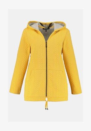 Zip-up sweatshirt - jaune moutarde clair