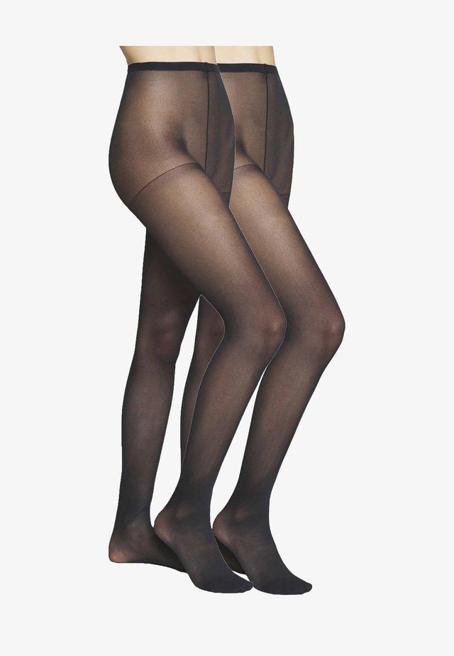 SEMI OPAQUE THIGHS BEAUTY RESIST 2 PACK - Sukkahousut - black
