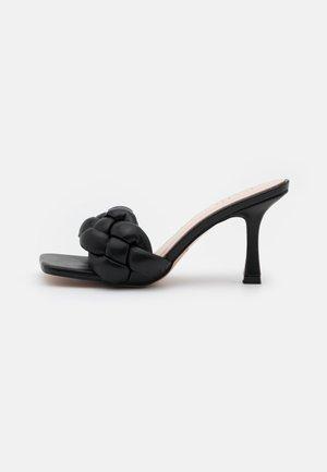 SANDRA - Heeled mules - black