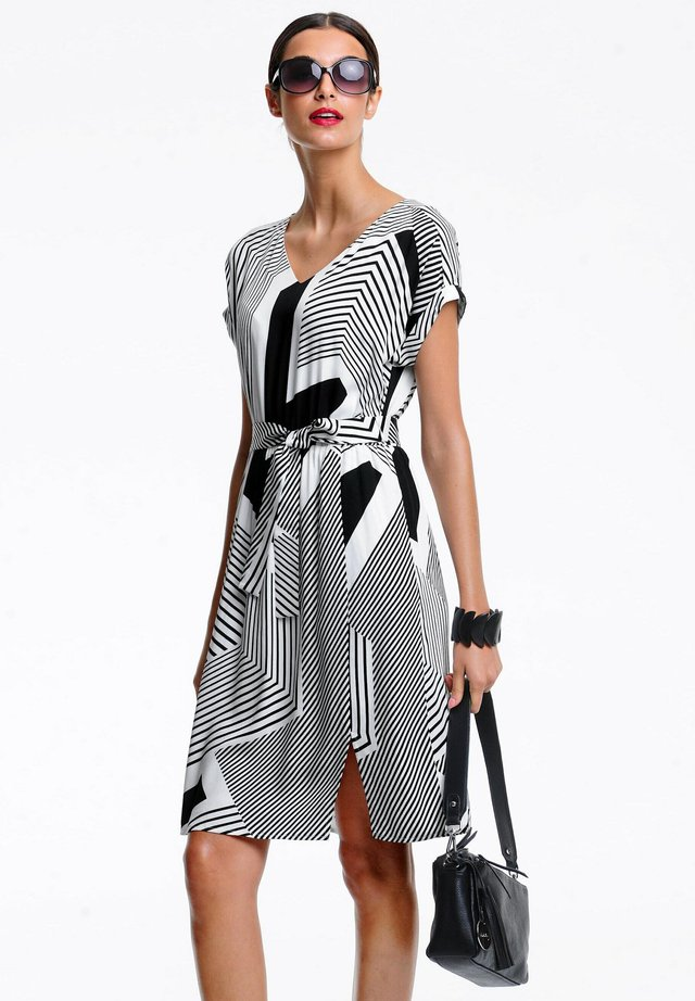Day dress - schwarz,off white