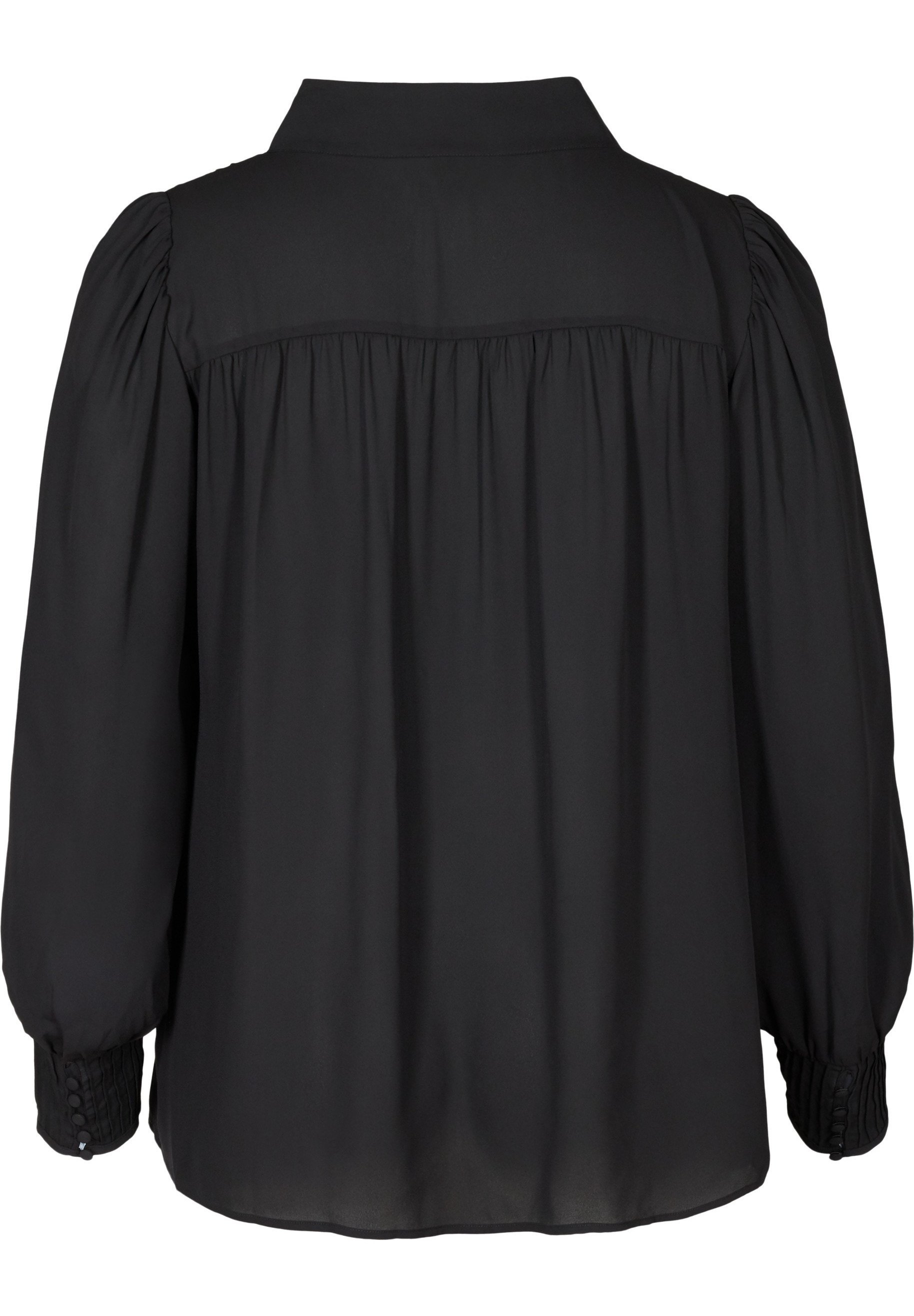 Zizzi WITH TIE DETAIL - Blouse - black - Tops & T-shirts Femme RWmEY