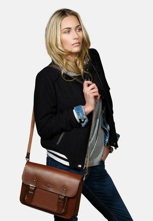 SATCHEL - TESSA - Across body bag - braun-cognac