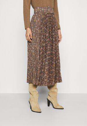 GOYA - Pliceret nederdel /Nederdele med folder - nero