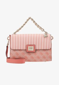 Guess - CANDACE TOP HANDLE FLAP - Bolso de mano - coral - 5