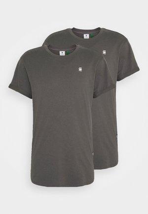 LASH 2 PACK - Basic T-shirt - shadow