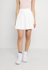 Missguided - TENNIS SKIRT - Mini skirt - white - 0