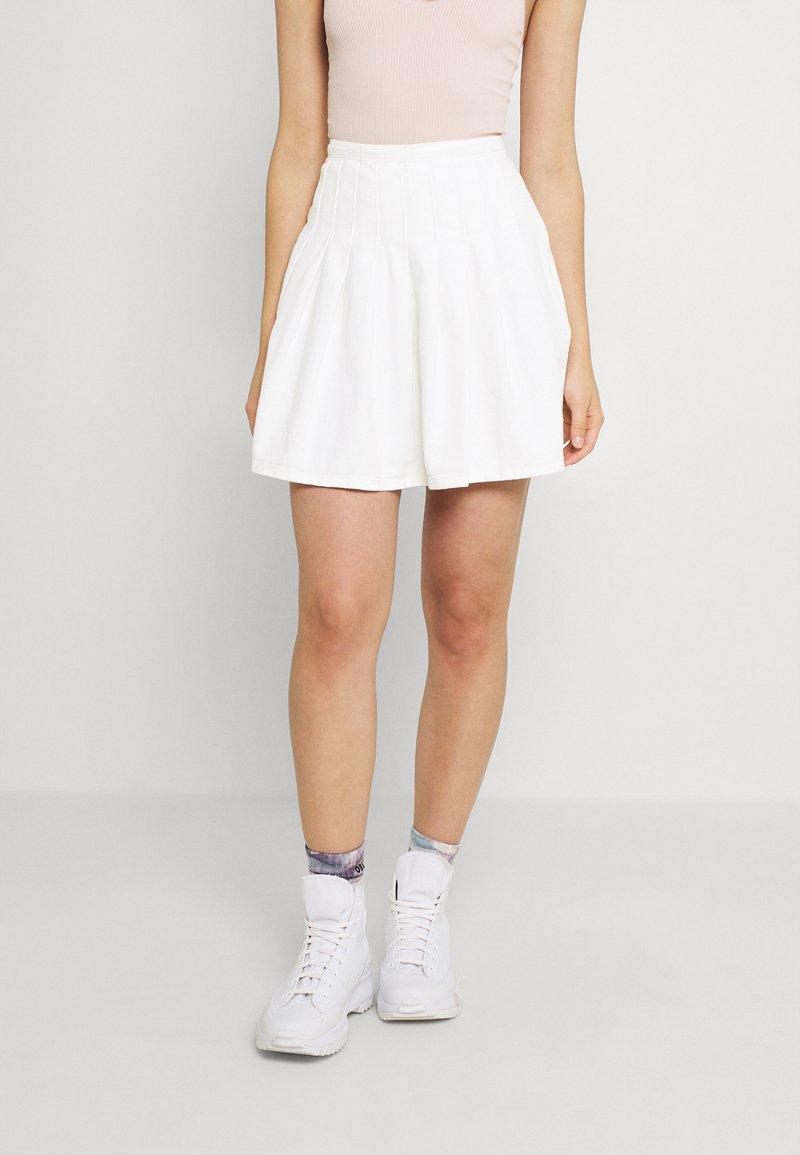 Missguided - TENNIS SKIRT - Mini skirt - white