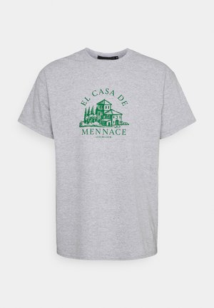 EL CASA UNISEX - Print T-shirt - grey