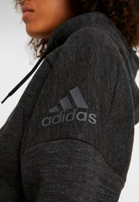 adidas Performance - Mikina na zip - black/grey six - 5