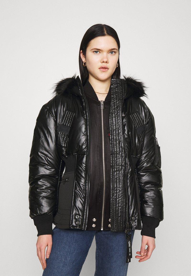 Diesel - W-ISOKE-SHINY - Winter jacket - black
