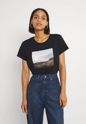 PERFECT TEE - T-shirt imprimé - mineral black