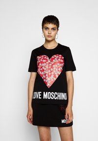 Love Moschino - Print T-shirt - black - 0