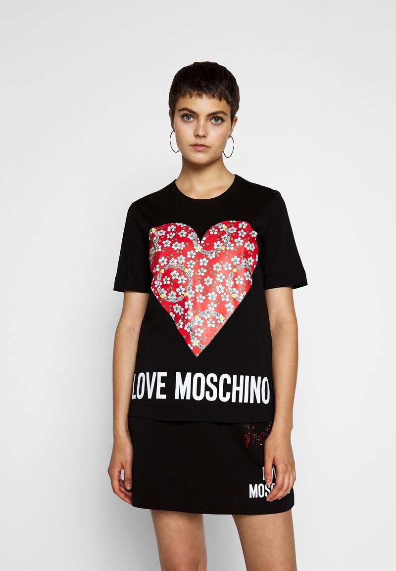 Love Moschino - Print T-shirt - black