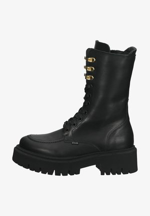 Lace-up boots - black leather