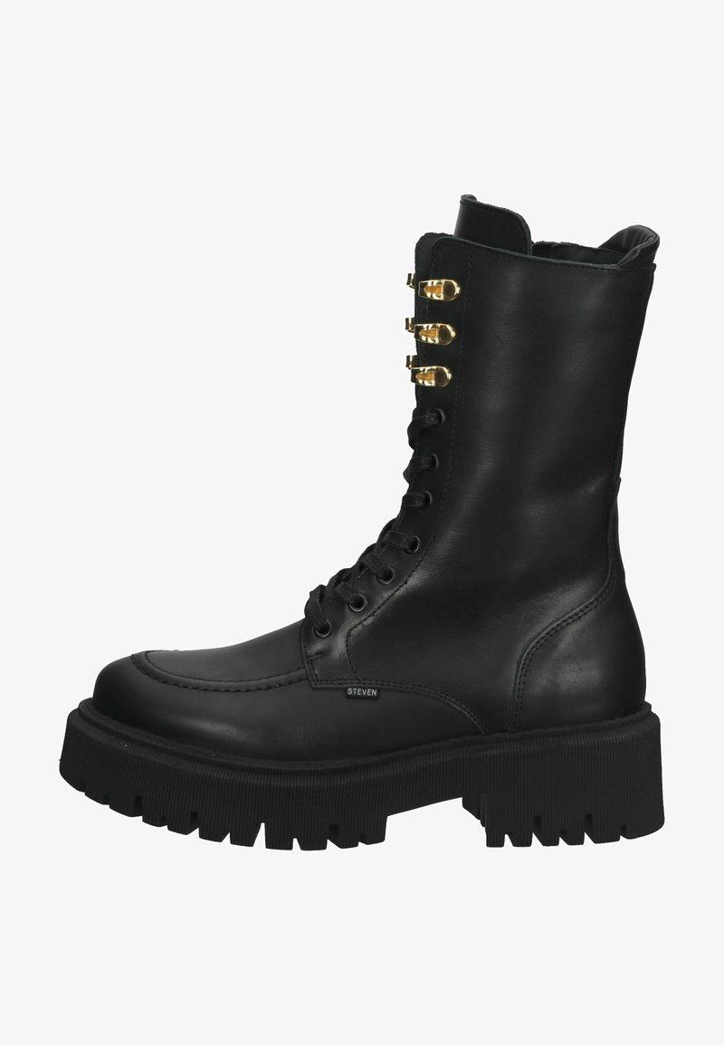 Steven New York - Lace-up boots - black leather