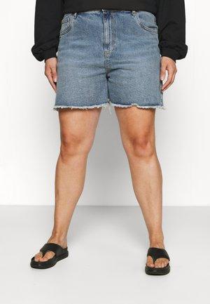 HIGH WAISTED - Denim shorts - brunswick blue