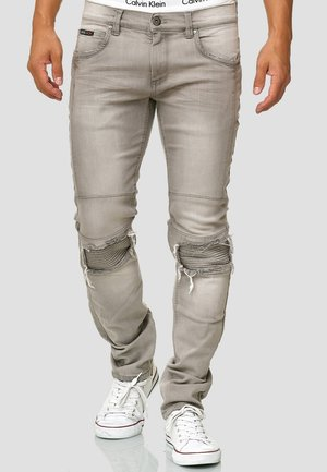 NEVADA - Slim fit jeans - light grey