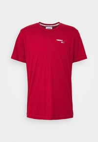 Tommy Jeans - CHEST CORP TEE UNISEX - Print T-shirt - wine red - 3