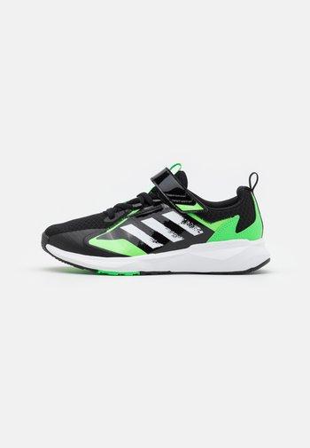 FAI2GO NEXT UNISEX - Sports shoes - core black/footwear white/screaming green