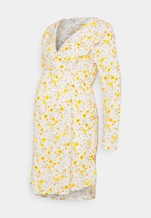 CROSS FRONT BABYDOLL DRESS - Day dress - white