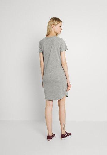 NMSIMMA DRESS - Shift dress - light grey melange/solid